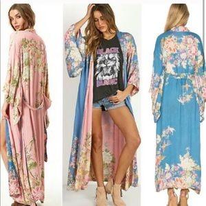 Spell Designs Blue Skies Kimono NWT OS